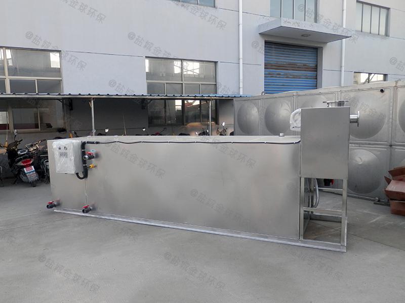 江门火锅店专用隔油提升一体化设备安装图片