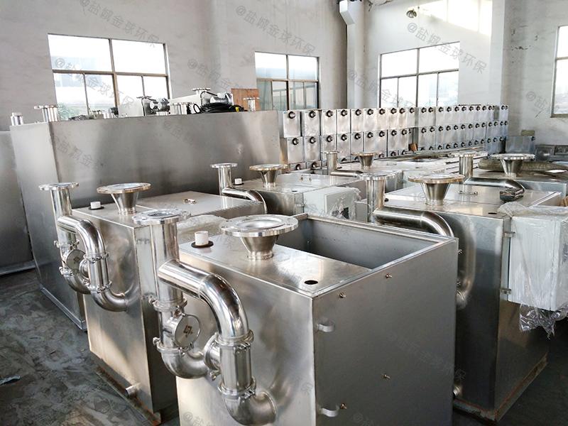 广东不锈钢一体化隔油隔渣装置剖面图