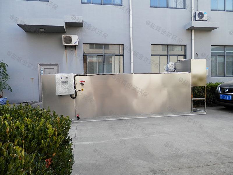 湛江食堂隔油处理设备排水示意图