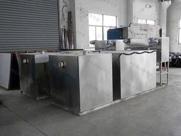 工厂食堂地下室大型自动刮油气浮式油水分离机安装合同