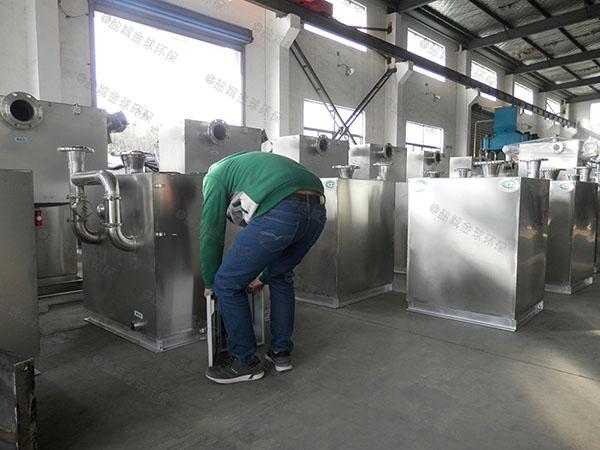 后厨埋地自动刮油油水分离过滤设备多少钱