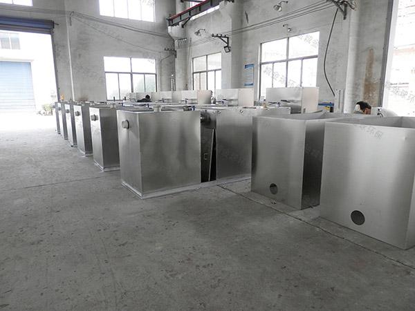 饭堂埋地半自动隔油提污设备设计计算