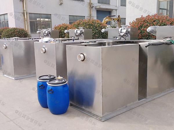 厨房用大型地埋自动提升不锈钢油水分离机怎么装