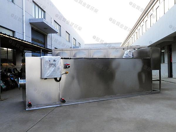 餐厅埋地式中小型自动排水气浮式隔油池多少钱一个