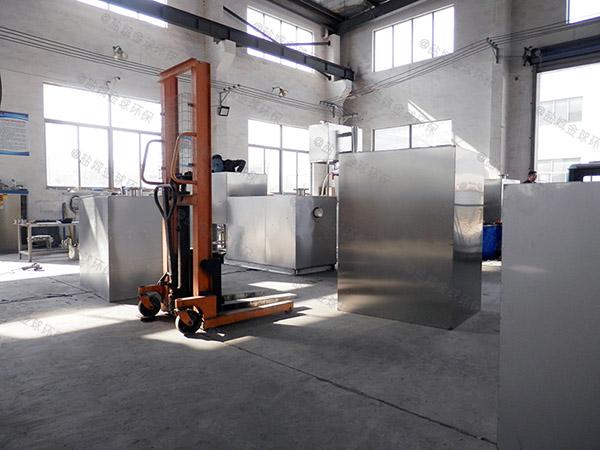 饮食业室外中小型全能型油水分离器提升设备工艺流程