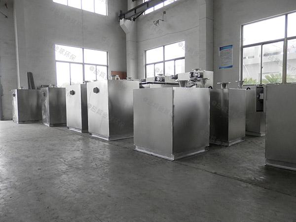 厨用地上式自动提升一体式油水分离器安装图片