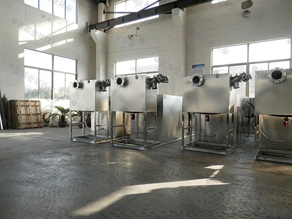 饭堂室内多功能油水分离器设备施工工艺