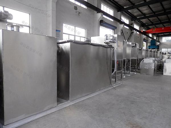 餐厅厨房大型地上移动隔油提升装置工艺特点