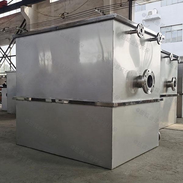 餐饮地面式自动油水渣三相分离机正确安装