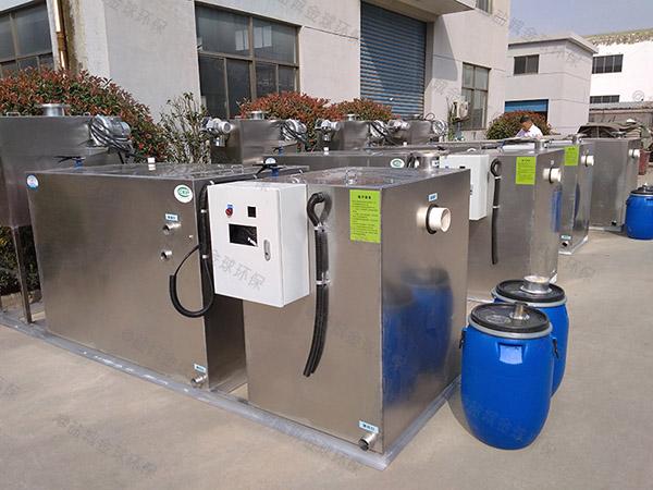 厨用室内分体式油水固相分离装置的做法