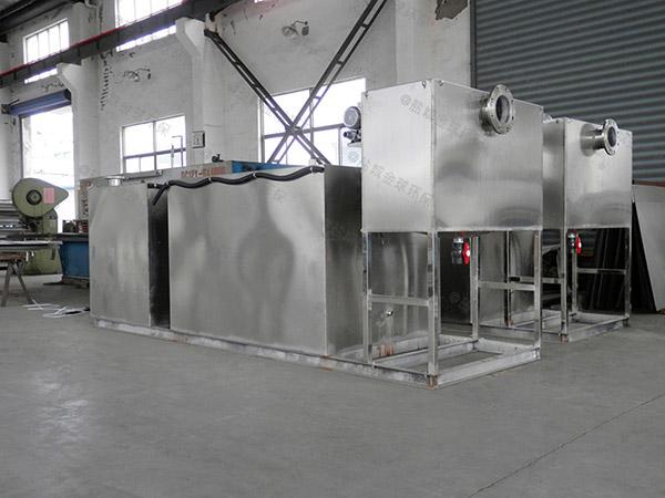 餐饮专用地下式大型全自动智能型一体式隔油提升设备安装图片