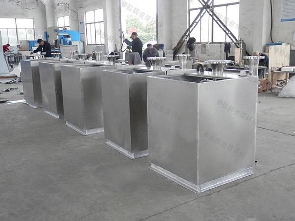 商用埋地式中小型简易气浮式自动隔油器规格