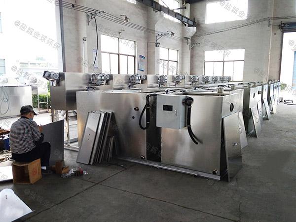 餐饮业埋地式简易油水分离处理机器怎么装