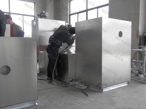 饭堂户外大自动除渣隔油成套设备效率