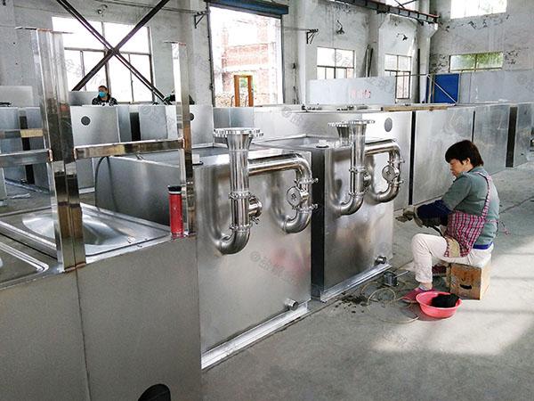 廚用大地埋式半自動廢水隔油器制作方法