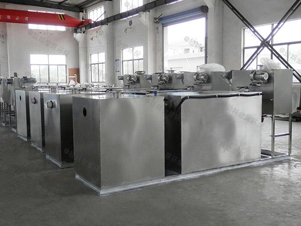 小饭店大型地下室机械不锈钢隔油池放在哪里