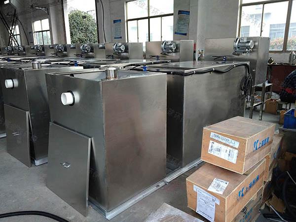 食堂用中小型地上式组合式隔油池成品操作