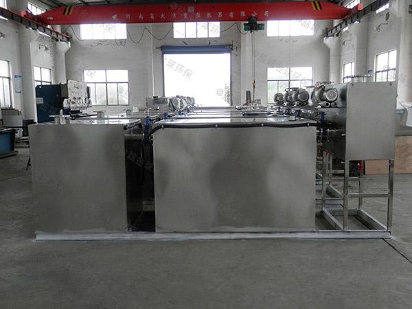 餐饮行业室内中小型自动提升隔油分离器设计方案