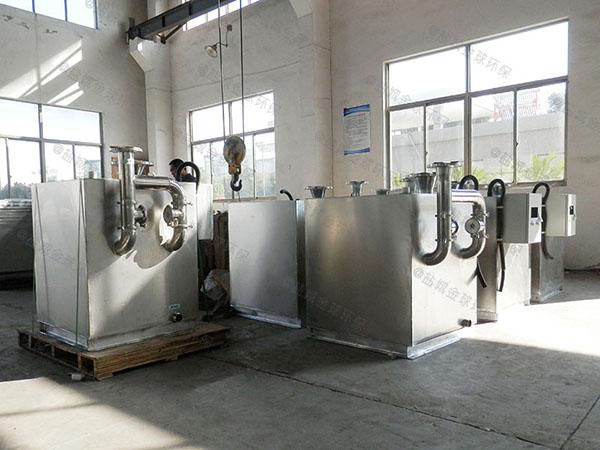 火锅大型地面式移动式油水分离处理机器施工图