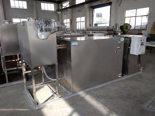 火锅地埋式大型自动除渣下水道油水分离器内部结构