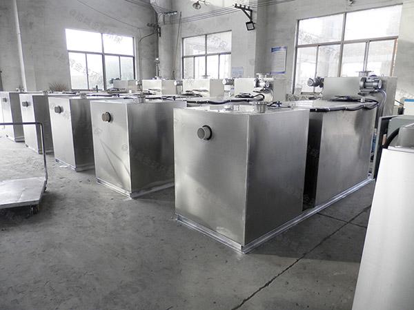 饭馆地上式大自动排水不锈钢隔油设备多少钱一台