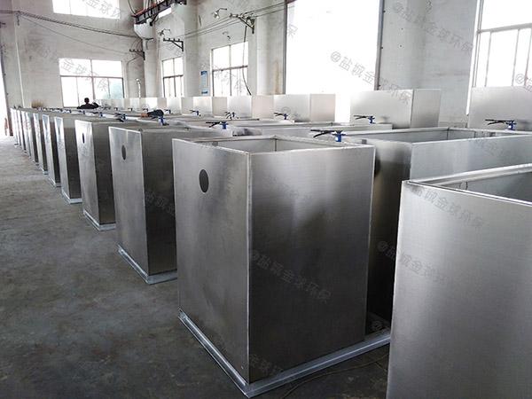 中餐地上式中小型智能化三格式隔油池如何使用