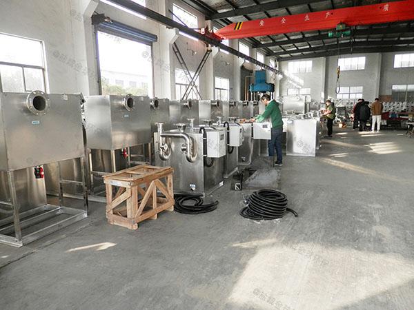 厨下型地上式机械一体化隔油池设备效果