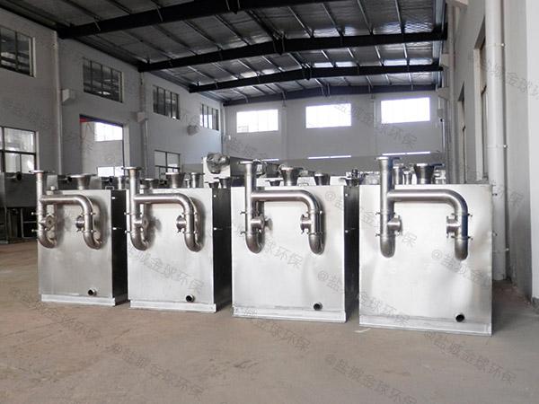 餐饮环保地上移动污水隔油器用法