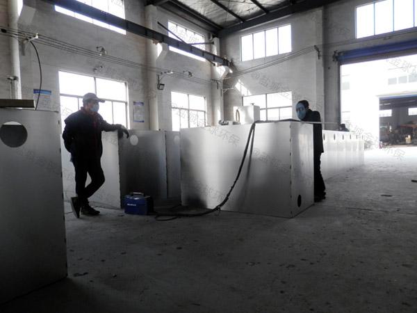 餐饮业地下多功能污水处理油水分离设备选用表