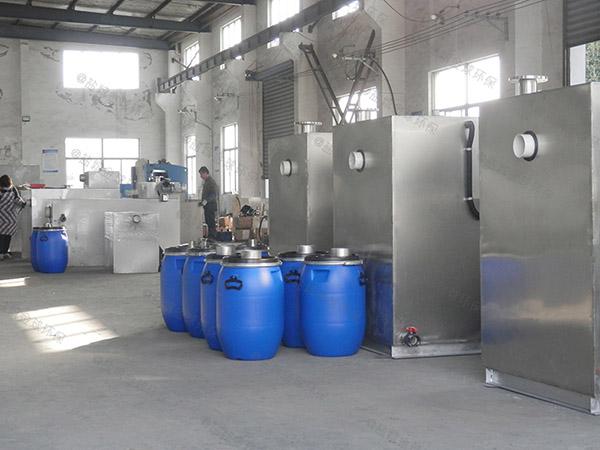 餐饮商户地面式半自动污水处理油水分离设备说明书