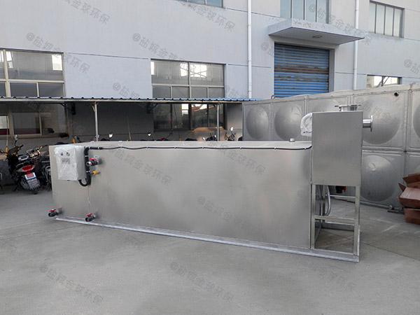 餐饮商户地下机械下水隔油池制作
