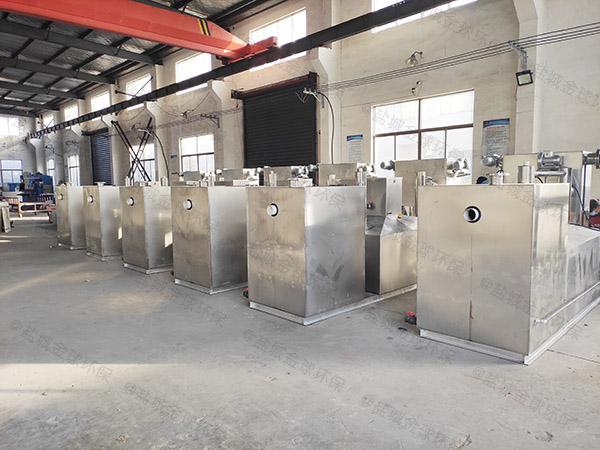 餐饮环保地下移动污水油水分离设备有效容积